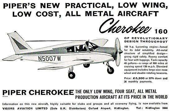 Piper Cherokee - Vigors Aviation Oxford Airport (UK Distributors)