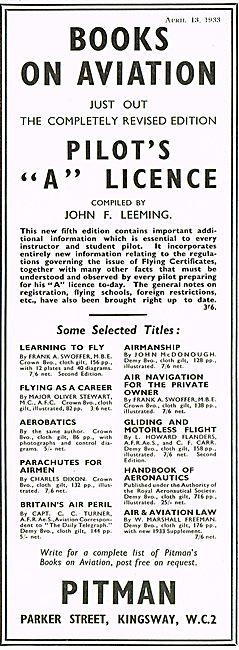 Pilots A Licence   John F Leeming