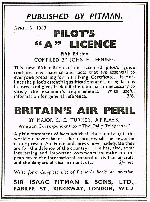 Britains Air Peril C C Turner