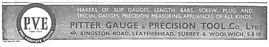 Pitter. Malers Of Precision Gauges, Length Bars, Measuring Aid