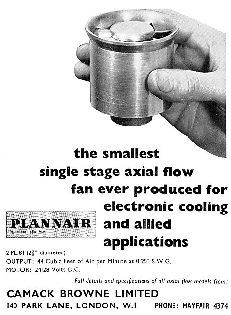 Plannair Axial Flow Electronics Cooling Fans