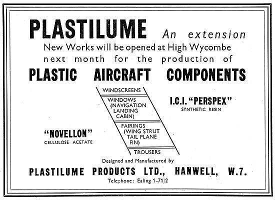 Plastilume Ltd. Plastic Parts For Aircraft