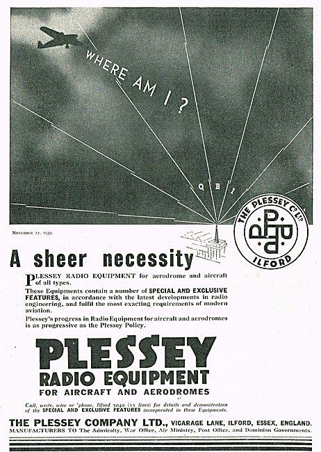 Plessey Radio Equipment For Aerodrome And Aircraft