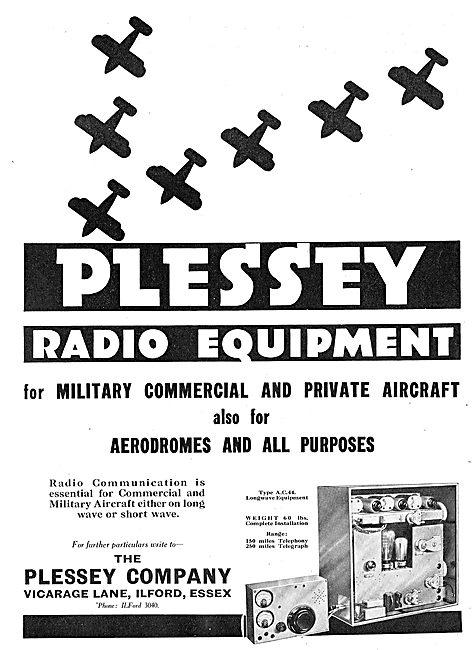 Plessey Radio Equipment For Aircraft & Aerodromes: Type AC44