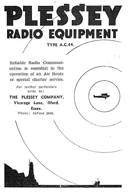 Plessey Type AC 44 Radio Equipment For Aircraft