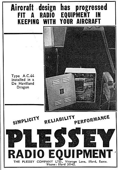 Plessey Radio Equipment For Aircraft: DH Dragon