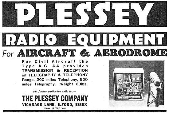 Plessey Radio Equipment For Aircraft & Aerodromes