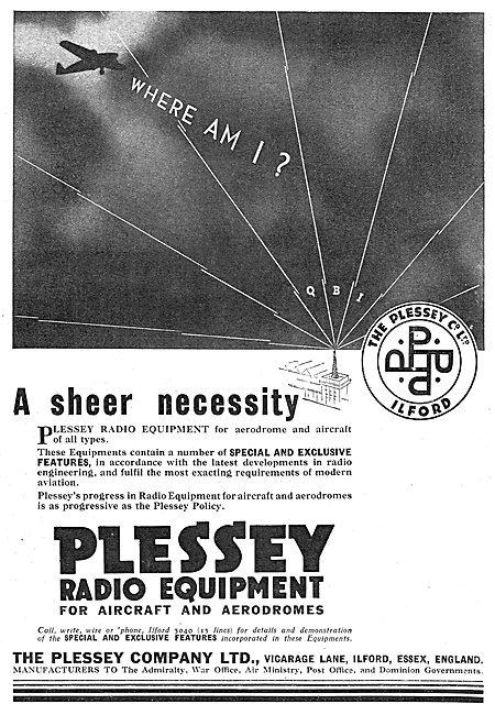 Plessey Radio Equipment For AircraftL QBI QBI