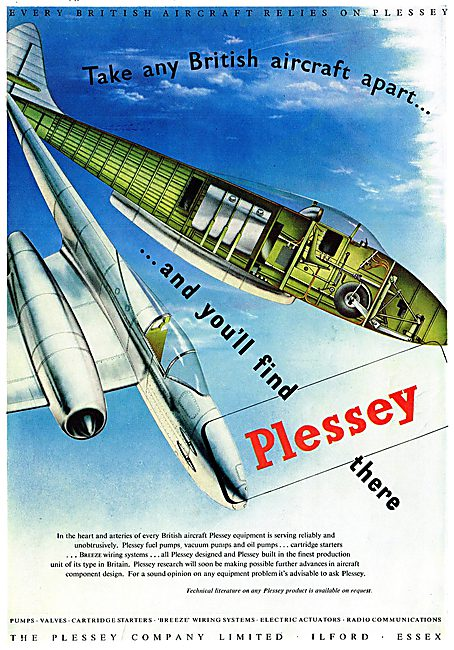 Plessey Electrical & Mechanical Aircraft Components.1949