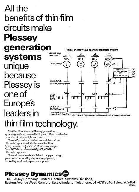 Plessey Dynamics Electrical Power Generation Systems