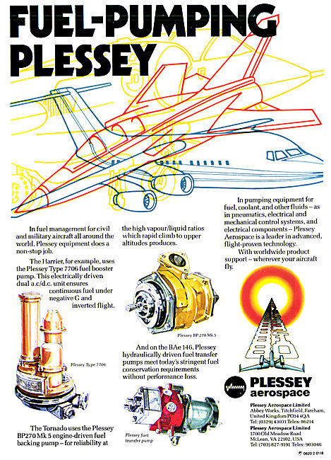 Plessey Aerospace Fuel System Components