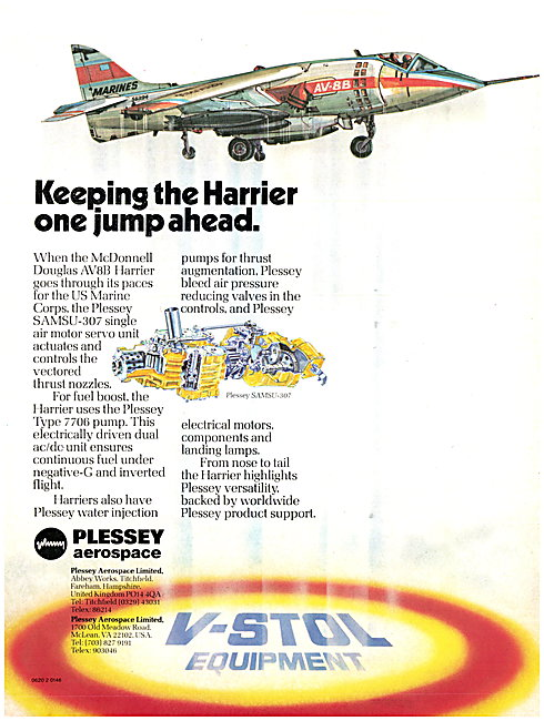 Plessey Aerospace SAMSU-307 Air Motor Servo Unit