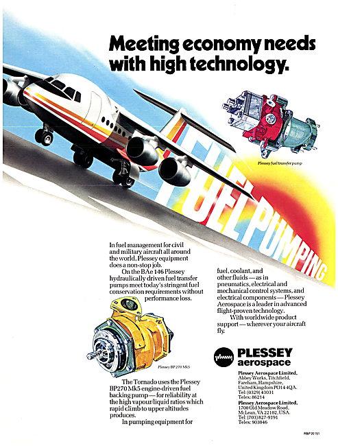 Plessey Hydraulic Fule Transfer Pumps