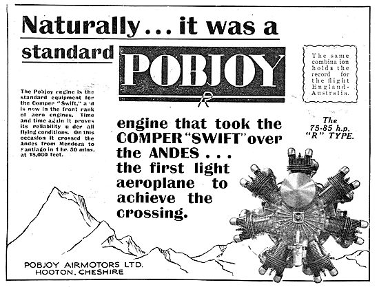 A Pobjoy Aero Engine Took The Comper Swift Over The Andes