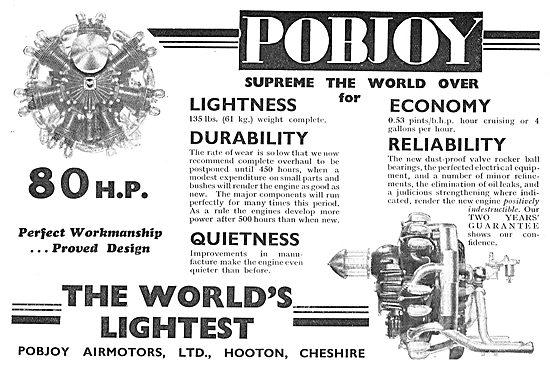 Pobjoy 80 HP Radial Aero Engine - The World's Lightest