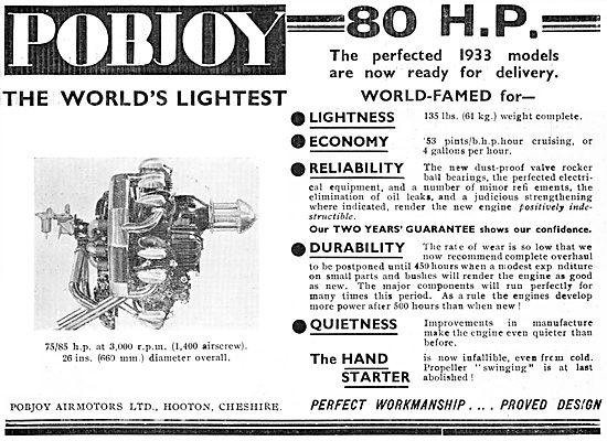 Pobjoy 80 H.P. Aircraft Engine