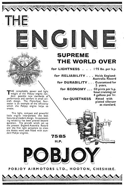 Pobjoy Aero Engine Pobjoy 75/85 HP