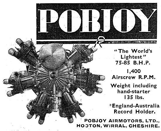 Pobjoy  75/85 HP Aero Engine