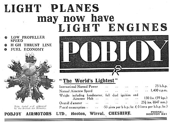 Pobjoy  75/85 HP Aero Engine