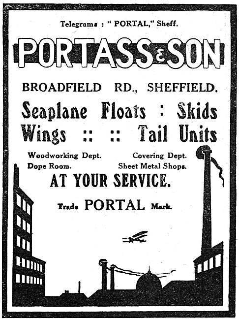 Portass & Son - Seaplane Floats, Skids, Wings & Tails