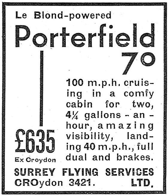 Porterfield 70 - Surrey Flying Services
