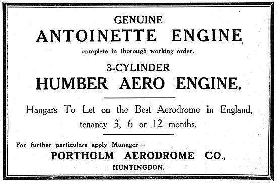 Portholm Aerodrome Huntingdon