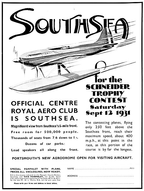 Portsmouth Airport Southsea 1931