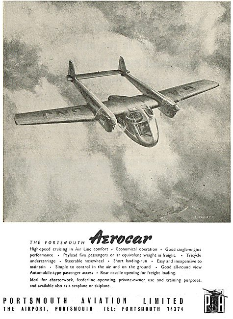 Portsmouth Aviation. The Portsmouth Aerocar Feederliner & Charter