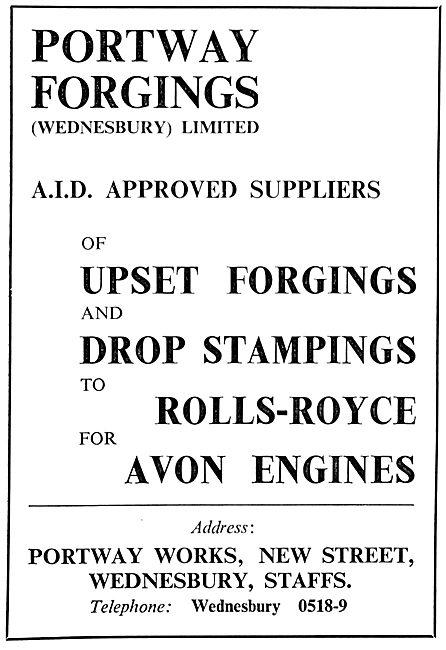 Portway Forgings. Wednesbury. Upset Forgings, Drop Stampings