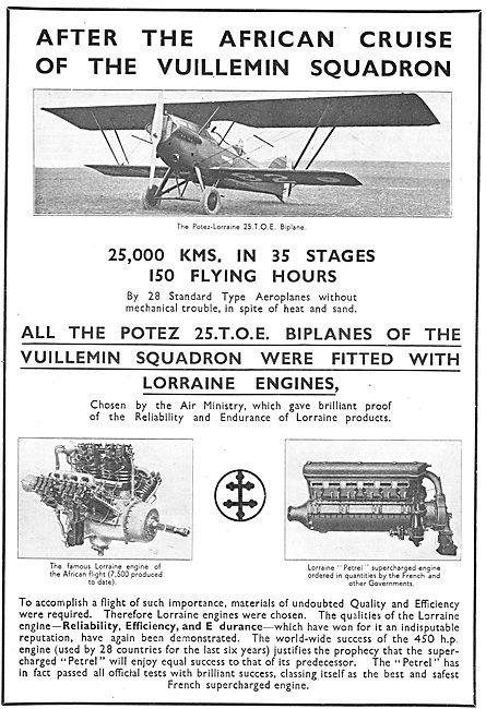Potez Lorraine 25 TOE Biplane
