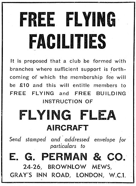 Flying Flea - Pou De Ciel: E.G.Perman