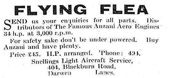 Flying Flea - Pou De Ciel: Snellings Light Aircraft Service
