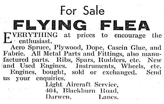 Flying Flea - Pou De Ciel: Light Aircraft Service