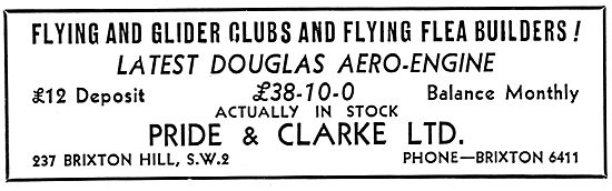 Flying Flea - Pou De Ciel: Pride & Clarke For Douglas Engines