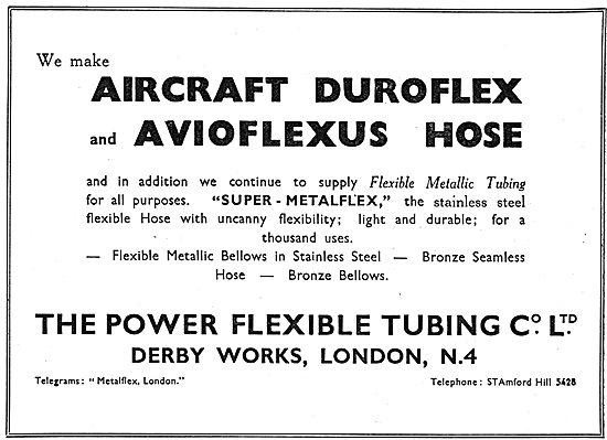 Power Flexible Tubing - Avioflex Metallic Tubings 1939