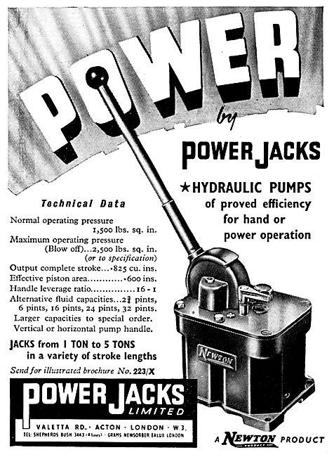 Power Jacks Aircraft Servicing & Ground Equipment. Newton