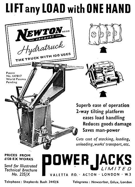 Power Jacks Aircraft Servicing & Ground Support Equipment. Newton