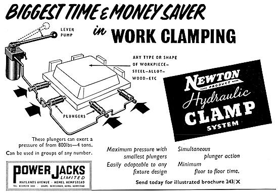 Power Jacks Newton Hydraulic Clamp System