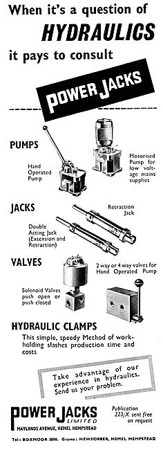 Power Jacks Aircraft Servicing Equipment