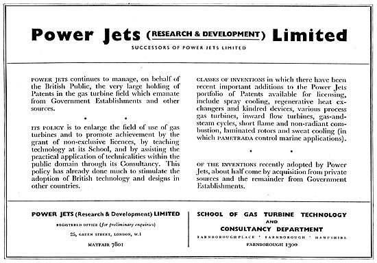 Power Jets (Research & Development) Ltd - Gas Turbine Consultancy
