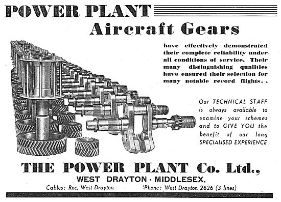 The Power Plant Co Ltd. : Aircraft Gears