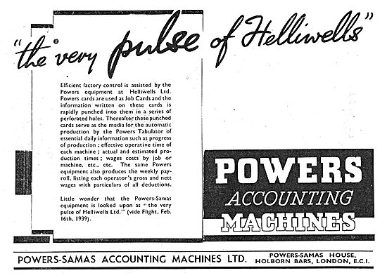 Powers-Samas Accounting Machines 1939