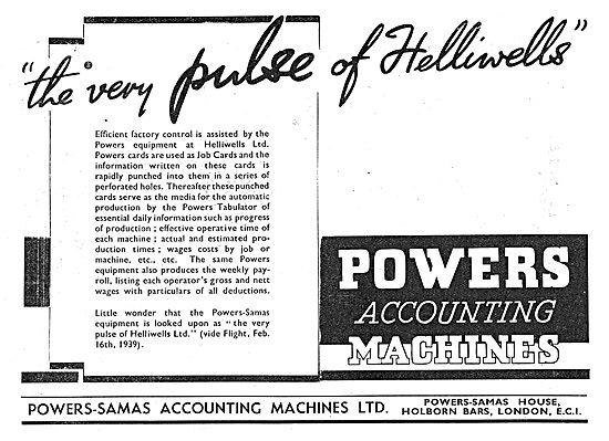 Powers-Samas Accounting Machines 1939