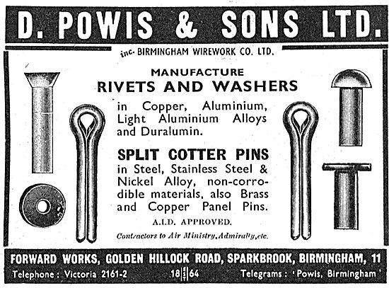 D.Powis : AGS. Rivets, Washers & Split Pins