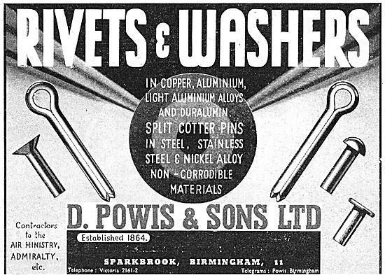 D.Powis Rivets & Washers. AGS Parts