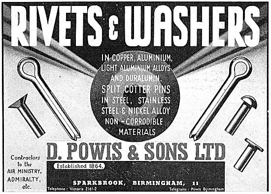 D.Powis Rivets, Washers & AGS Parts