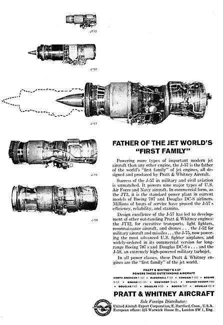 Pratt & Whitney Aero Engines For 1959