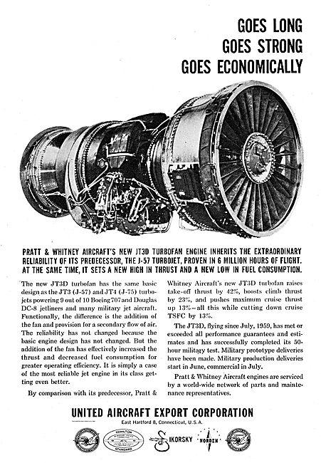 Pratt & Whitney JT3D & JT4 (J-75) Turbo jet Aero Engines