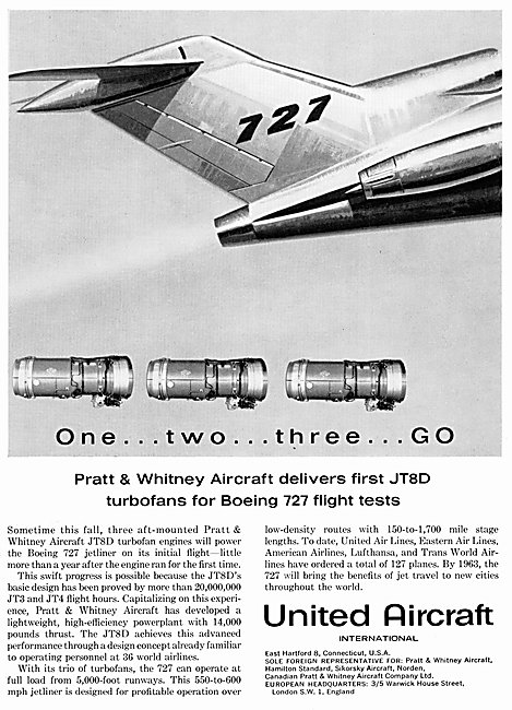 Pratt & Whitney JT8D - United Aircraft International