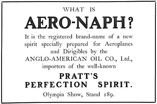 Pratts Aviation Spirit :  Aero-Naph